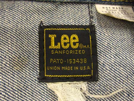 1970年代後半 OLD Lee 220-J黒...